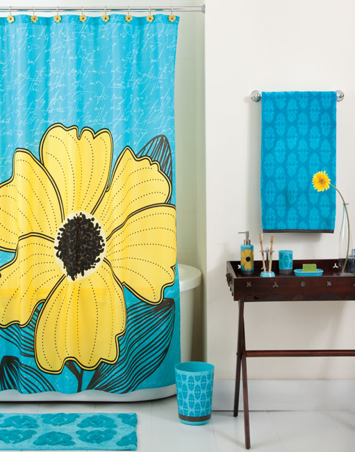 East river studio new york home fashion photography shower curtains yellow flower shower curtain and accessories mightylinksfo
